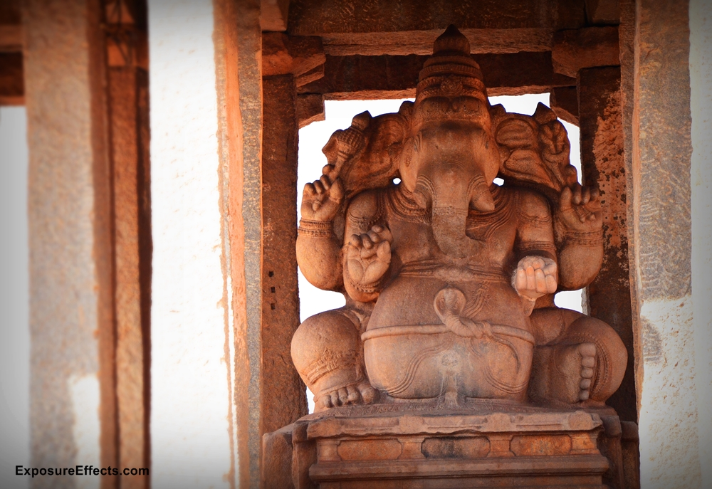 Hampi Karnataka India Ganesha stone idols