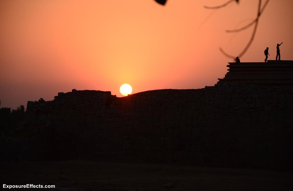 Sunset at Hampi Karnataka India