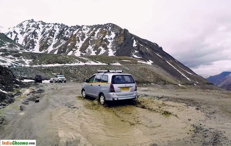 Ladakh Khardungla Pass Road Conditions