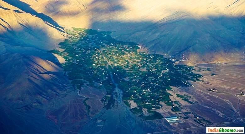Leh Ladakh Aerial View
