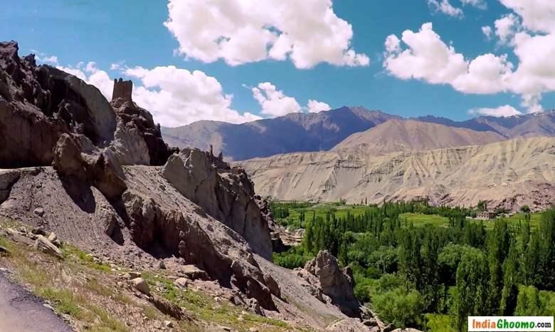 Ladakh Basgo Monastery hill