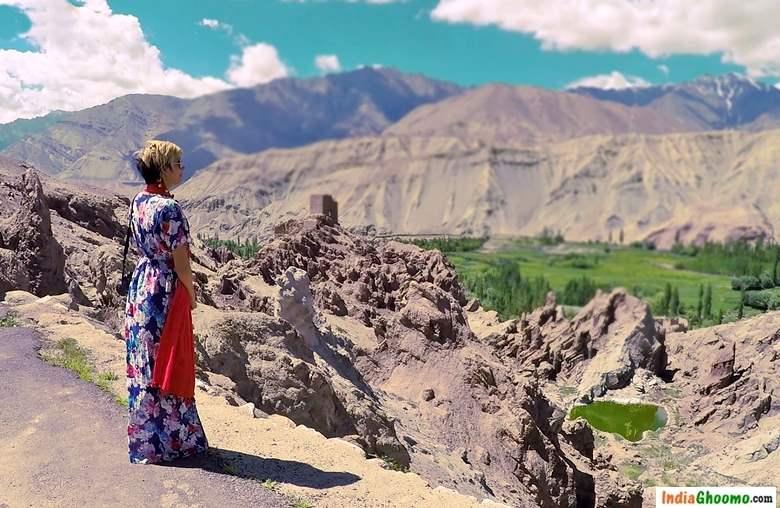 Ladakh Basgo Palace view