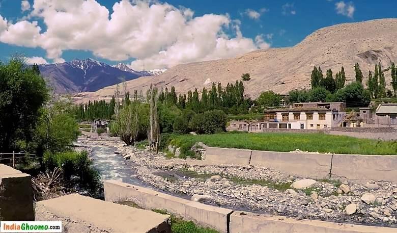 Ladakh - Drive Towards Basgo Monastery