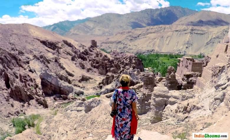 Ladakh View from Basgo Monastery