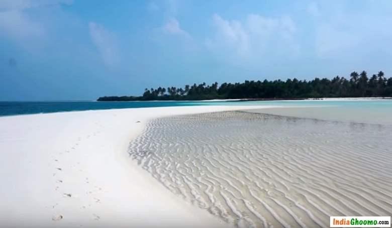 Lakshadweep Bangaram island Sand Bank