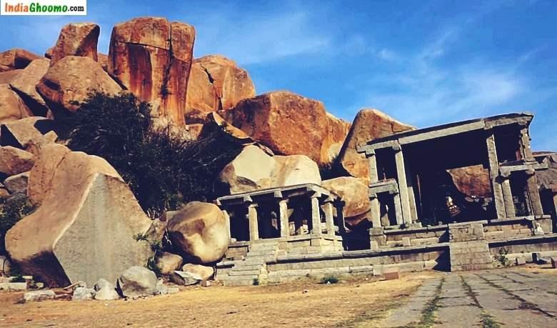 Monolithic Nandi Virupaksha Temple Hampi