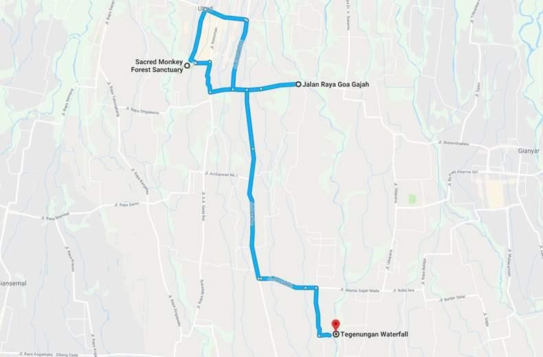 Bali Map ubud