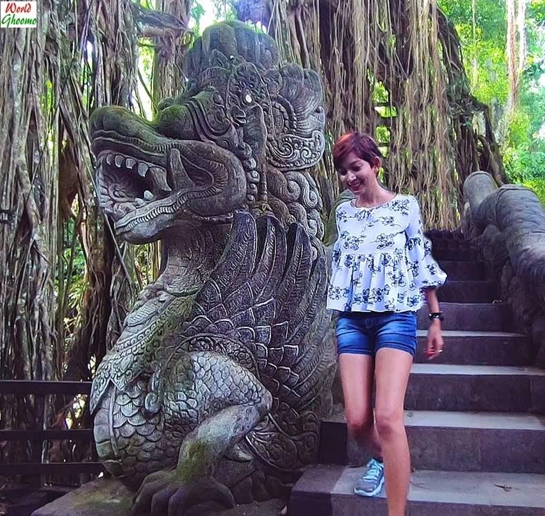 Dragon Bridge Ubud Monkey Forest