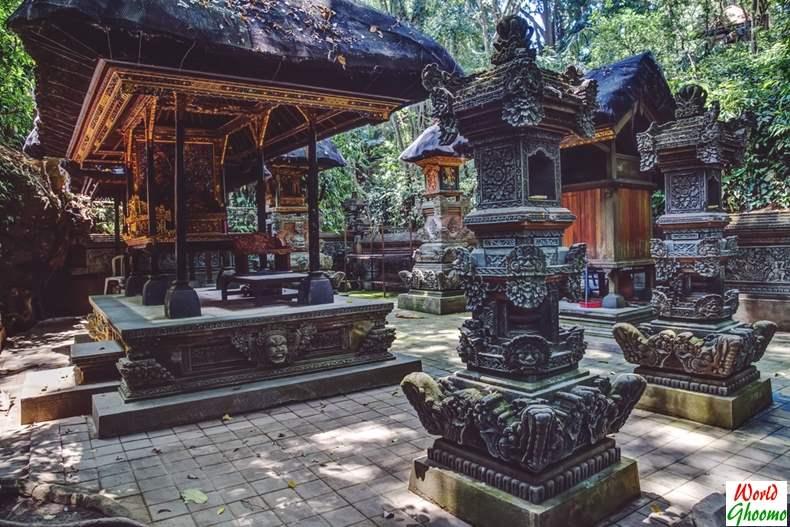Temples inside Ubud Monkey Forest