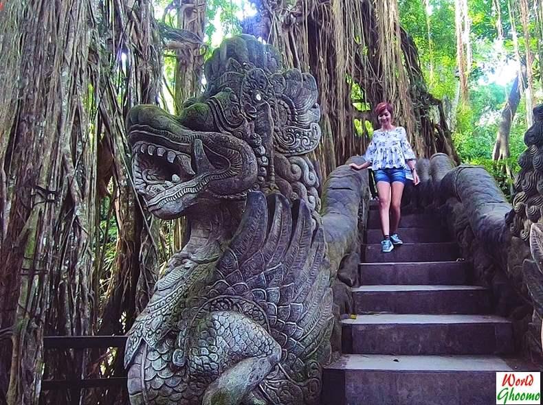 Ubud Monkey Forest Dragon Bridge
